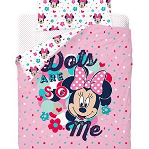 Disney-Minnie-Love-And-Spots-Funda-nrdica-de-3-piezas-para-cama-de-90-cm-0